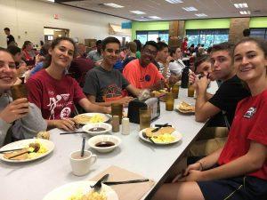 Comiendo en la universidad MSOE